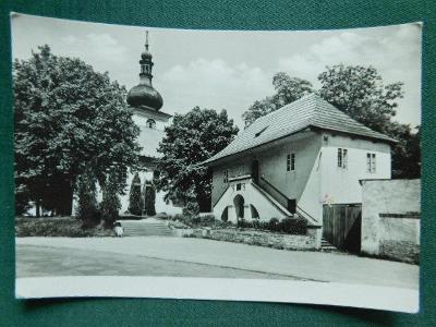Česká Skalice - Kostel a malá fara - okres Náchod   (velký formát)