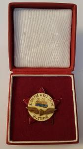 Stará medaile / řád / vyznamenání ČSR BEZPEČNĚ A BEZ ZÁVAD TRAMVAJ