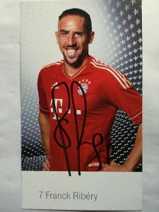 Autogram podpis Ribery Franck