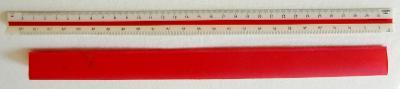 Logarex 51504 -pravítko s měřítky - krásný, dost možná nepoužitý stav