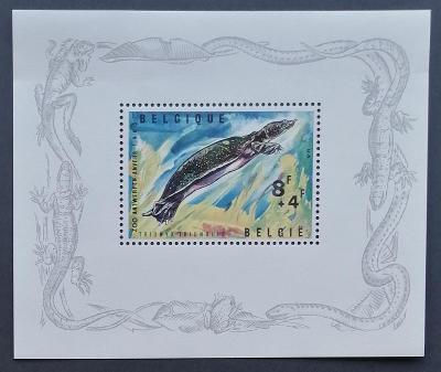 Belgie 1965 Bl.33 1,8€ ZOO Antverpy, želvy, plazi a fauna