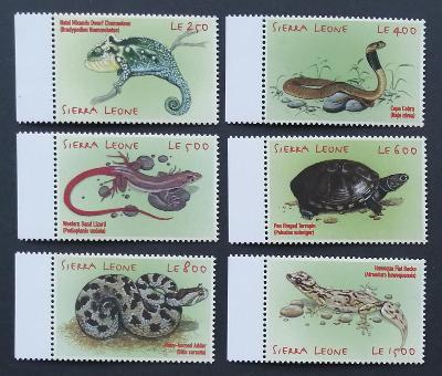 Sierra Leone 2001 Mi.3795-0 7€ Plazi země, hadi, ještěrky, želvy