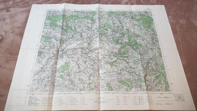 Stará vojenská mapa 1947-Náchod-Dobruška-Opočno-Jaroměř-Smiřice