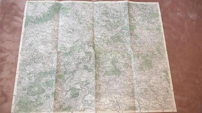Stará vojenská mapa 1930-Litoměřice-Terezín-Trmice-Krupka-Verneřice