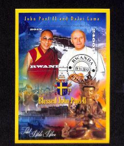 { 6 } - RWANDA - PAPEZ JAN PAVOL II - DALAJ LAMA