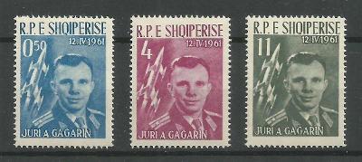 Albánie 1962 Mi.642-4 15€ První člověk ve vesmíru, Gagarin, kosmos