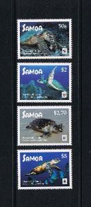 Samoa 2016 Mi.1352-5 8€ Kareta, želvy, mořská fauna ostrovů, WWF