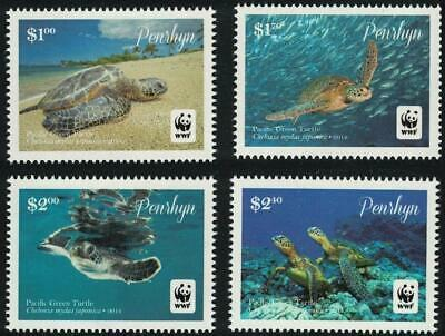 Penrhyn 2014 Mi.757-0 12,5€ Kareta, želvy, mořská fauna ostrovů, WWF