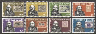 Zair (Kongo) 1980 Mi.631-8 6,5€ Století smrti sira Rowlanda Hilla