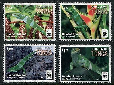 Tonga 2016 Mi.2098-1 10€ Ostrovní plazi, leguáni, fauna a ještěři, WWF