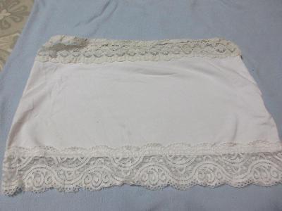 sukně bílá s krajkou