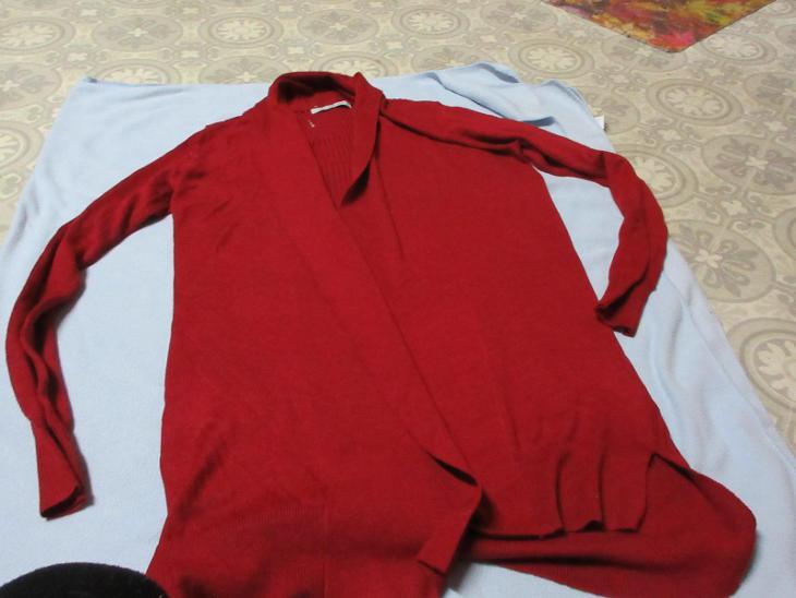 svetr červený dlouhý  george - Dámské oblečení