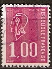 France 1976 Mi 1985 fluor. papier