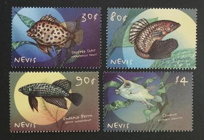 Nevis 2000 Mi.1497-0 7€ Okrasné ryby ostrova