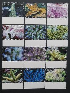 Tuvalu 2006 Mi.1291-2 25€ Kompletní definitiva korálů, mořská fauna