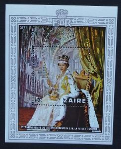 Zair (Kongo) 1978 Bl.20 12€ 25 let korunovace královny Alžběty II.