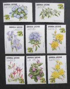 Sierra Leone 1999 Mi.3178-3 11€ Květiny a flora světa, Výstava AUSIPEX