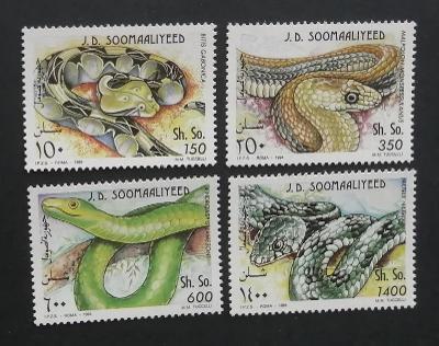 Somálsko 1994 Mi.528-1 8€ Afričtí hadi, plazi a fauna