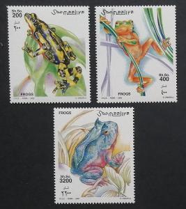 Somálsko 2002 Mi.955-7 13€ Žáby, obojživelníci, vodní fauna