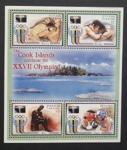Aitutaki 2000 Bl.84 4,5€ Olympijské hry Sydney, sport a atletika