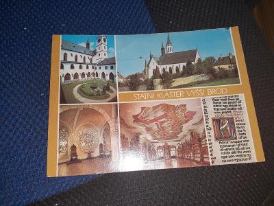 Pohlednice státní klášter Vyšší Brod,prošlé poštou.