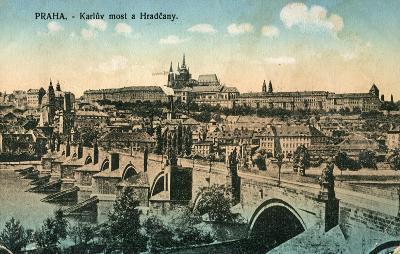 Praha - Karlův most a Hradčany ..