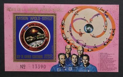 Rovníková Guinea 1975 Bl.181 7€ Vesmírná spolupráce USA a SSSR, kosmos