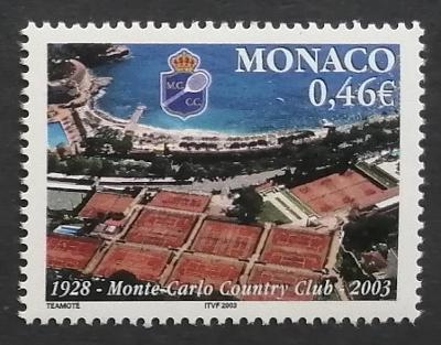 Monako 2003 Mi.2644 1€ 75 let tenisového klubu, sport