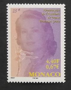 Monako 2001 Mi.2556 1,7€ 25 let ceny princezny Grace, osobnosti