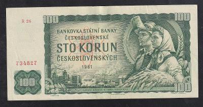 VZÁCNĚJŠÍ 100 KORUNA 1961 VZÁCNÁ SÉRIE R - NÁDHERNÁ!