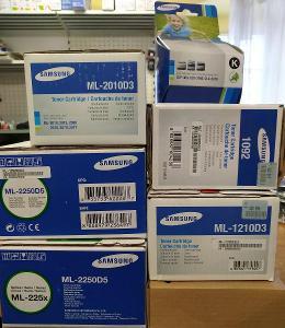 orig. Samsung tonery 2x ML-2010D3, 2x ML-2250D5, CLT-M4072S, CLP-K300A