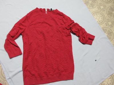triko-svetr červený WAREHOUSE