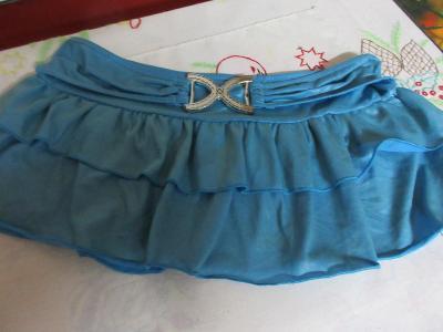 sukně modrá s kanýry