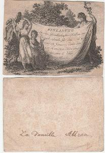 Pozvánka na ples 1802 Kliment / Clemens Kohl