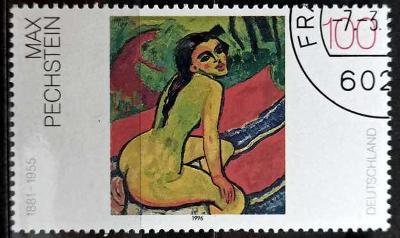 DEUTSCHLAND: MiNr.1843 Sitting Female Nude by Max Pechstein 100pf 1996