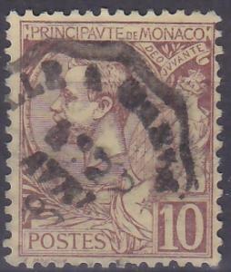 MONACO - MONAKO - ALBERT I - 1891 Mi.: 14 - ražená