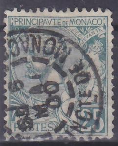 MONACO - MONAKO - ALBERT I - 1891 Mi.: 16 - ražená