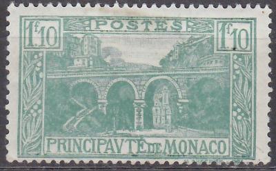 MONACO - MONAKO - KRAJINKY - 1925 Mi.: 99 - *nálepka*