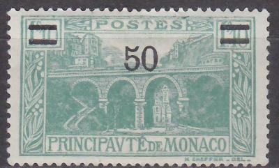 MONACO - MONAKO - KRAJINKY PŘETISK - 1931 Mi.: 115 - *nálepka*