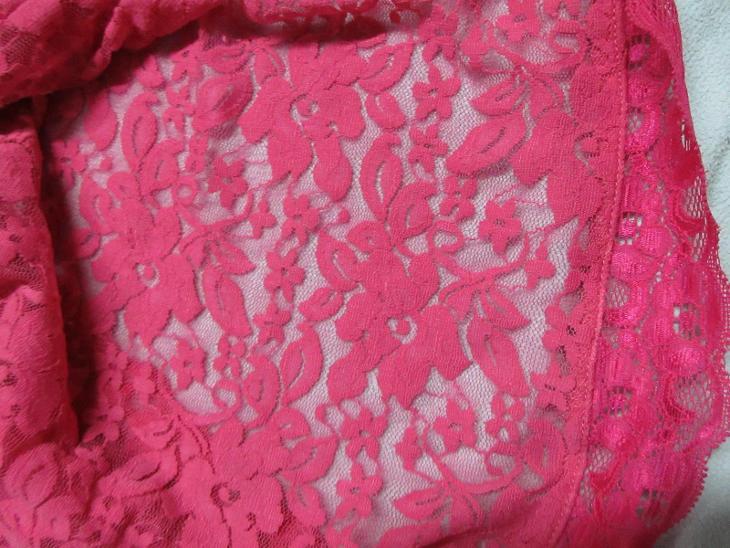 sexy komplet ružový krajka - Erotické prádlo, obuv