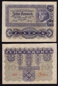 RAKOUSKO 10 Kronen s.1036 1922