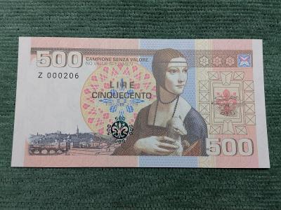 500 lira 2019, Leonardo da Vinci, Z 000084, stav UNC