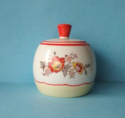 CUKŘENKA porcelán předválečná barev tisk + malba značená
