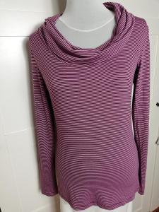 COLOURS OF THE WORLD-Dámské fialové,pruhované tričko s rolákem, S.