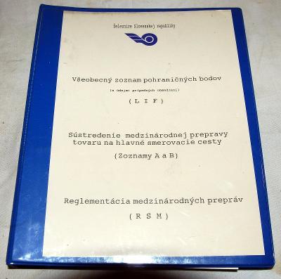 ŽSR LIF RSM POHRANIČNÉ BODY MEDZINÁRODNÉ PREPRAVY ČSD VLAK KOLEJ 1995