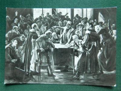 Čáslav -  výtvarná výzdoba radnice - okres Kutná hora ( velký formát )