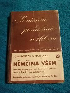 Němčina všem/ Josef Doležal a Alois Jokl  1941