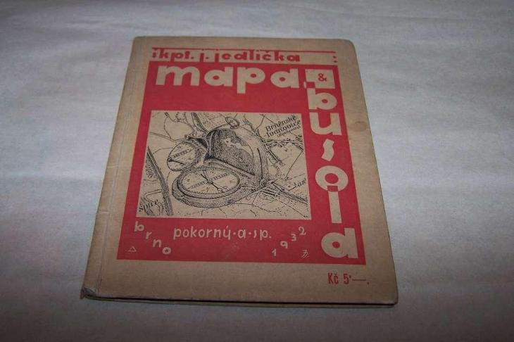 MAPA A BUSOLA / Škp.Josef Jedlička r.1932 /B166/ - Vojenské