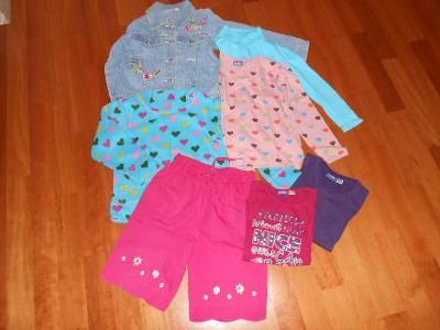 Balík 7ks oblečení pro holku 110-116