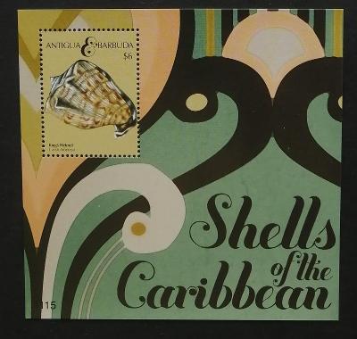 Antigua & Barbuda 2011 Bl.684 5€ Ostrovní škeble, mušle, mořská fauna